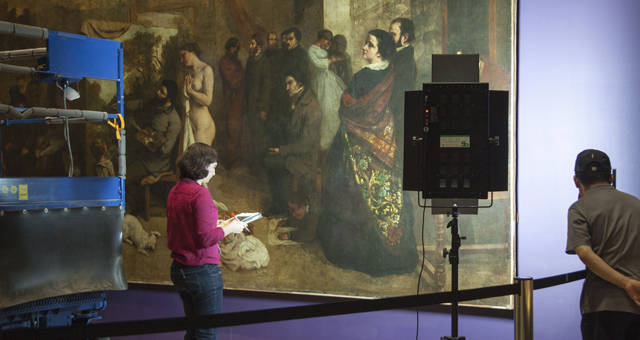 "Restoration of Gustave Courbet's Masterpiece ""The Artist's Studio"""